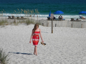 Peyton on Pensacola beach