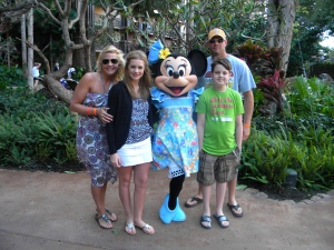 Minnie & Family @ Aulani Resort!