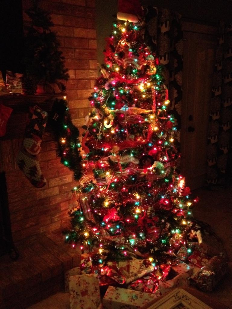 Santa's tree in the den