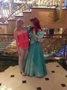 Peyton with Ariel!