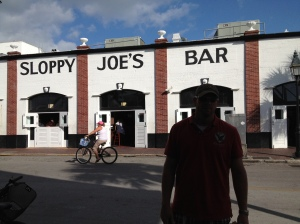 Hubby at Sloppy Joes